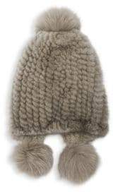 Max Mara Abissi Dyed Mink Hat
