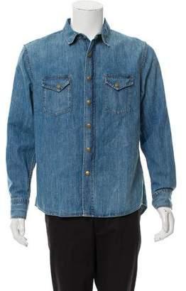 Billy Reid Denim Snap Front Shirt w/ Tags