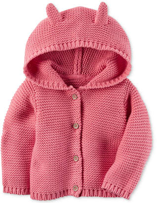 Carter's Hooded Ears Cotton Cardigan, Baby Girls (0-24 months) $12.98 thestylecure.com