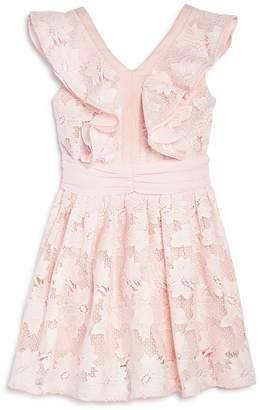 Bardot Junior Girls' Ruffled Floral Lace Dress