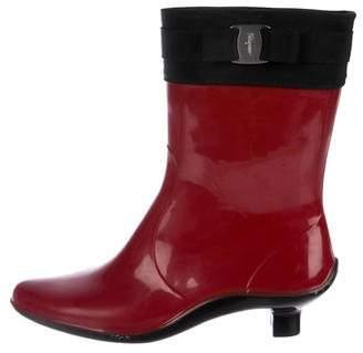 Salvatore Ferragamo Rubber Mid-Calf Rain Boots