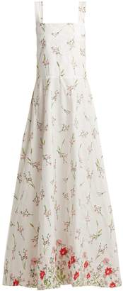 GIOIA BINI Lucinda floral-embroidered cotton-blend dress