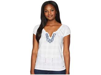 U.S. Polo Assn. Solid Peasant Shirt Women's Clothing