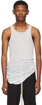 Rick Owens White Basic Rib Tank Top