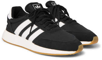 adidas I-5293 Leather and Suede-Trimmed Neoprene Sneakers - Men - Black