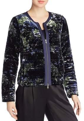 Eileen Fisher Petites Printed Velvet Puffer Jacket
