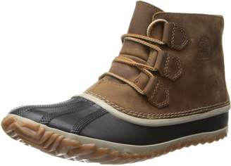Sorel Women's Out N about Leather Snow Boot, Black
