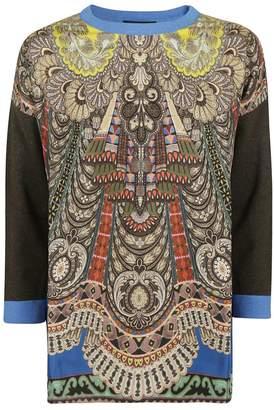 Etro Contrast Sleeve Sweater