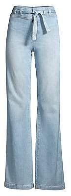 Joe's Jeans Women's High-Rise Wide-Leg Flare Tie-Waist Jeans