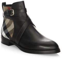 Burberry Vaughan Flat Leather Boots