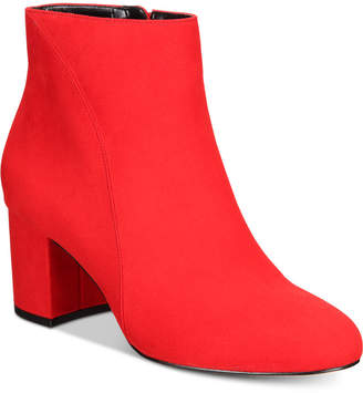 INC International Concepts I.n.c. Floriann Block-Heel Ankle Booties