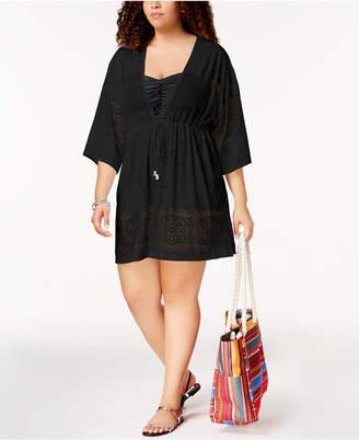 Dotti Plus Size Free Spirit Kimono Cover-Up Women's Swimsuit