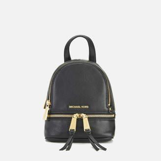 MICHAEL Michael Kors Rhea Zip Small Crossbody Backpack - Black