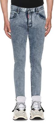 DSQUARED2 Men's Acid Wash Skater Slim Straight-Leg Jeans