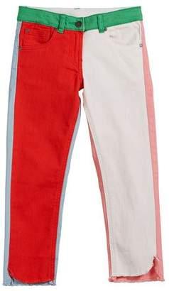 Stella McCartney Logo-Sides Denim Pants, Size 6-14