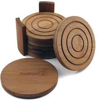 Berghoff 7-Piece Bamboo Coaster Set