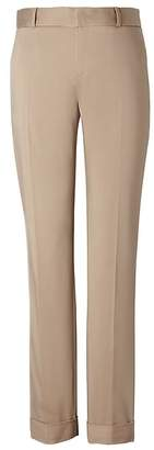 Banana Republic Petite Avery Straight-Fit Sateen Ankle Pant with Cuff
