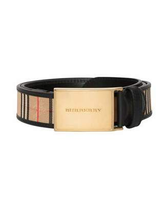 Burberry Men's 1983 Check Leather-Trim Belt