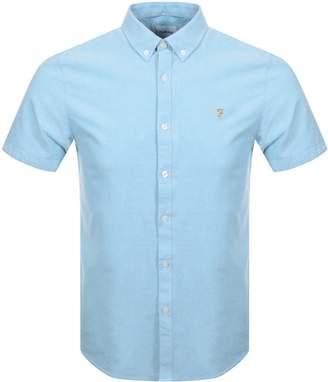 Farah Short Sleeved Brewer Shirt Blue