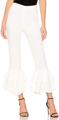 Ruffled Pants In Off White in White. - size S (also in L,M,XS) endless rose