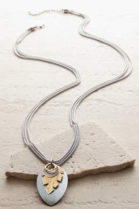 Soft Surroundings Jagged Leaf Necklace