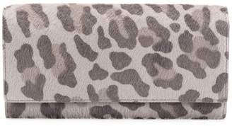 Thom Browne Leopard Print Pony Hair Long Wallet