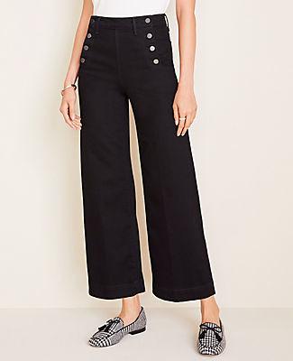 Ann Taylor Sailor Wide Leg Crop Jeans