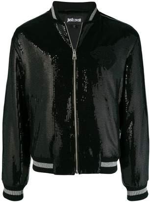 Just Cavalli sequin embellished bomber jacket