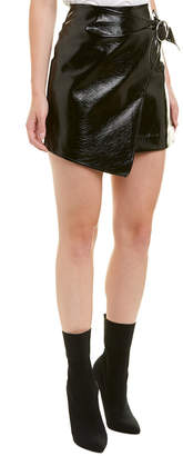 J.o.a. J. O. A. Pleather Wrap Skirt