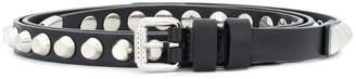 Prada skinny studded belt