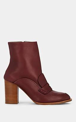 Loewe Women's Leather Ankle Boots - Burgundy