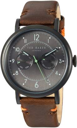 Ted Baker Men's 'AIDEN' Quartz Stainless Steel and Leather Casual Watch, Color Brown (Model: TE15192002)