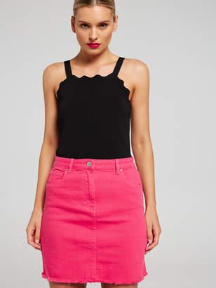 Portmans Australia Denim Two Tone Mini Skirt