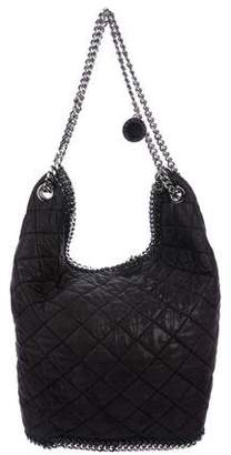 Stella McCartney Quilted Shaggy Deer Falabella Bucket Bag