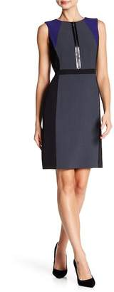 Tahari Colorblock Sleeveless Dress