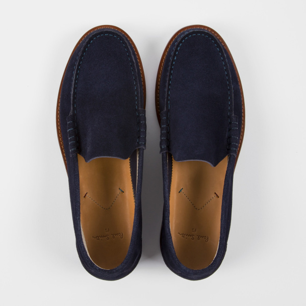Paul SmithPaul Smith Men's Navy Suede 'Raymond' Loafers