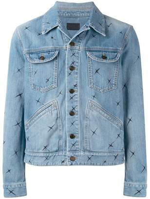 Saint Laurent star print denim jacket