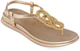 NEW YORK TRANSIT New York Transit Medina Womens Slingback Strap Footbed Sandals