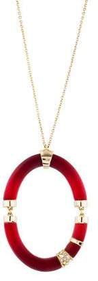 Alexis Bittar Lucite & Crystal Ombre Pendant Necklace