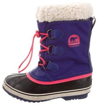 Sorel Girls' Faux Fur-Trimmed Snow Boots