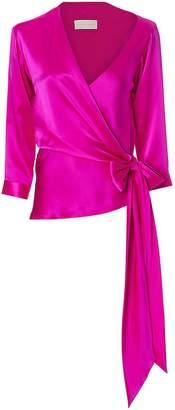Michelle Mason Asymmetric Wrap Top