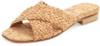 Sesto Meucci Gabriella Woven Cork Slide Sandal, Natural $220 thestylecure.com