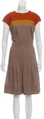 Akris Punto Wool Midi Pleated Dress