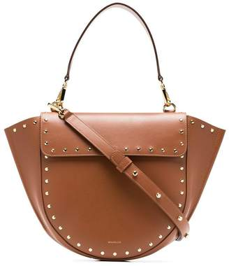 Hortensia Wandler brown medium studded leather bag