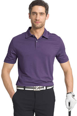 Izod Golf Cutline Stretch Heather Short Sleeve Stripe Knit Polo Shirt- Big and Tall