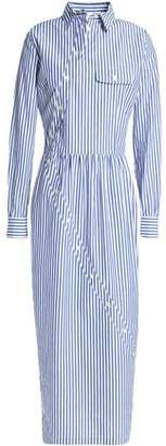 Stella Jean Striped Cotton-Poplin Midi Shirtdress