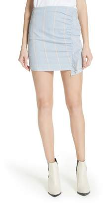 3x1 NYC Jane Stripe Ruffle Detail Skirt