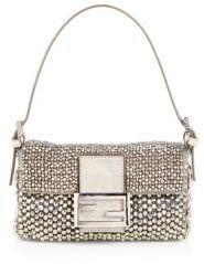 Fendi Beaded Mini Baguette Shoulder Bag