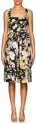 Barneys New York Women's Floral Poplin A-Line Dress