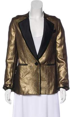 3.1 Phillip Lim Long Sleeve Metallic Blazer